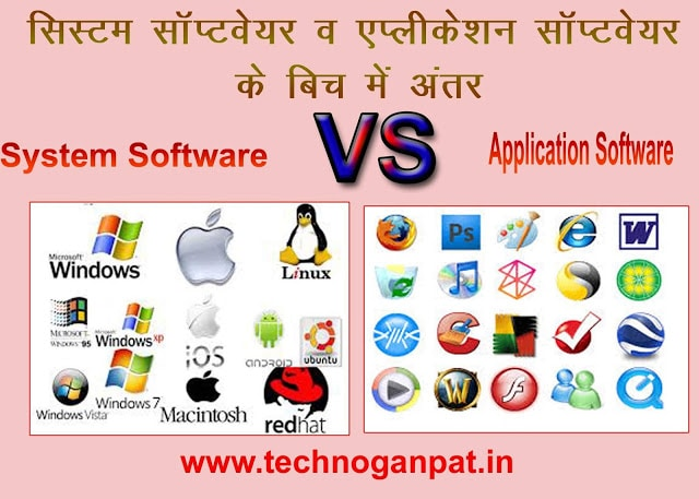 Difference between Systems Software and Application Software