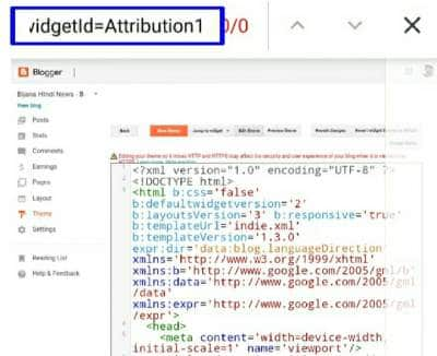 Theme HTML Code Find